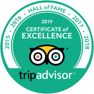 Trip Advisor 2019 Certificate of Excellence