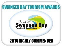 Swansea Bay Tourism Award: Highly Commended - Best New or Renewed Business (2014)