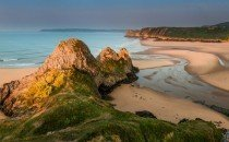 Three Cliffs Bay © City & County of Swansea 2014