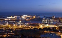 Swansea harbour at Night © City & County of Swansea 2014