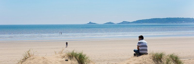 Swansea Bay beach
