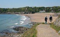 Walking in Caswell Bay, Gower