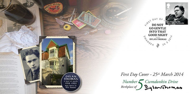 Dylan Thomas Stamp - First Day Cover