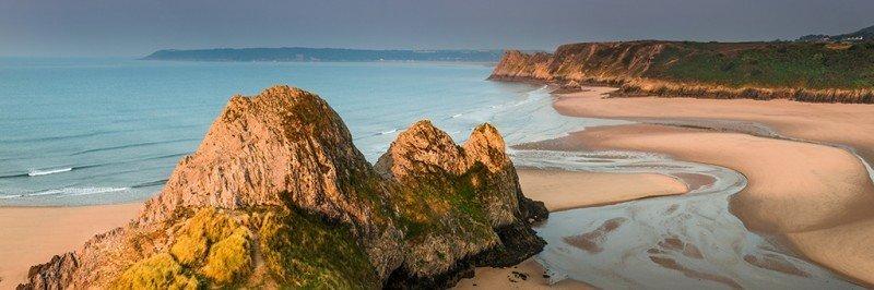 Three Cliffs Bay beach - Gower