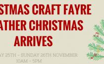 Christmas craft fayre & Father Christmas arives