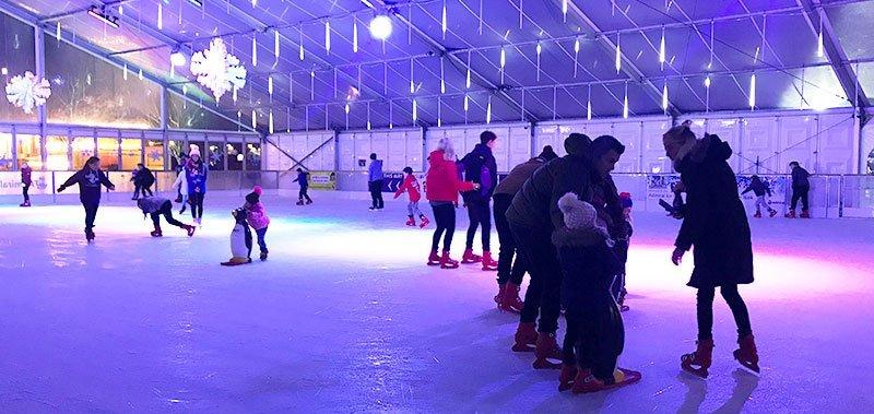 Ice Skating at Waterfront Winterland
