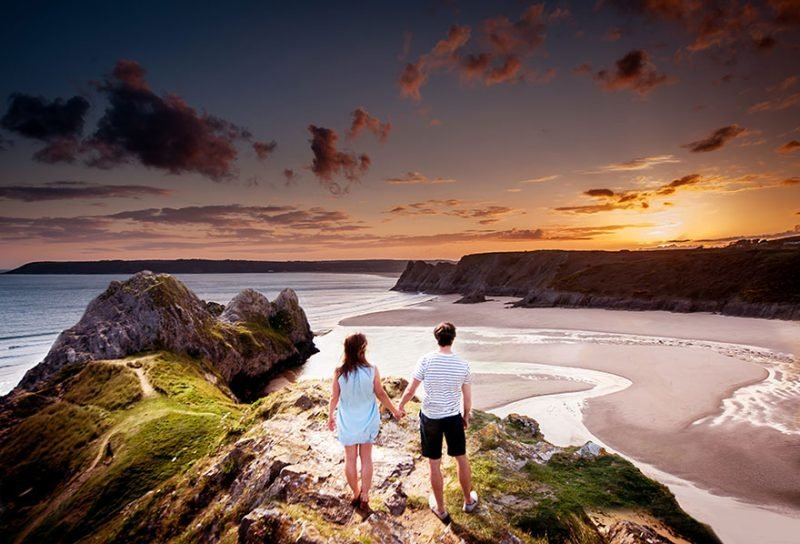 Valentines Day Couple - Three Cliffs Bay Swansea