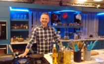 Photo of chef Rob Bowen at Croeso Swansea